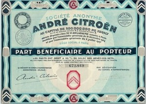 Un obligation citroen
